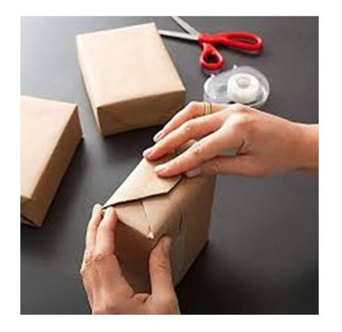 Imagem 1 de 7 de Papel Semi Craft Rolo Bobina 90cm 3kg - Embalagem Caixa