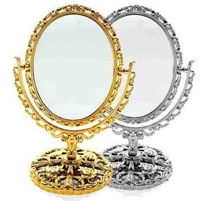 Espelho De Mesa Dupla Face Aumento Bancada 30cm Maquiagem