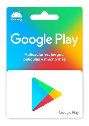 Imagen 1 de 3 de Tarjeta Google Play 100 (codigo Digital Inmediato)