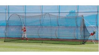Jaula De Bateo Heater Tejido Nylon Béisbol 6.7mts De Largo