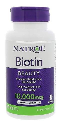 Biotina Natrol 10000 Mcg-oferta-cabellos-uñas-importada