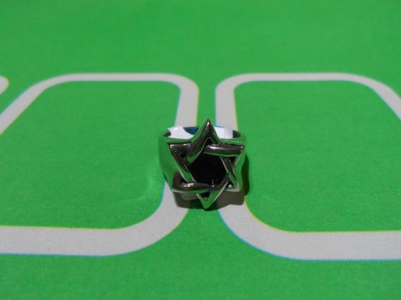 Anel Aço Estrela De Davi Salomão Hexagrama Aço Inoxidável