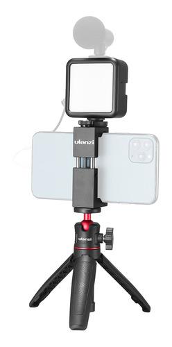Imagen 1 de 9 de Ulanzi Teléfono Vídeo Vlog Kit Con Selfie Stick Trípode Led