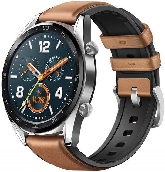 Reloj Huawei Watch Gt Cafe Piel Elegante Nuevo