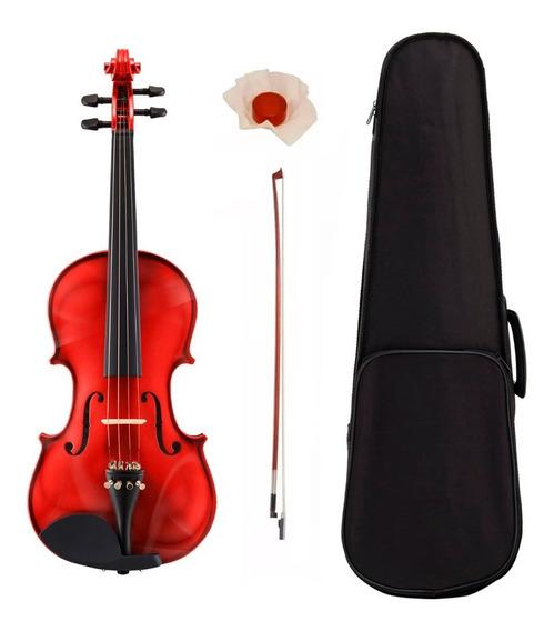 Violin Stradella Mv141144 De Medida 4/4 Con Estuche Semi Rigido Arco Y Resina Madera De Pino Y Maple Ideal Para Estudio