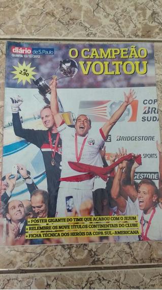 Revista Poster São Paulo Campeão Da Copa Sul Americana 2012