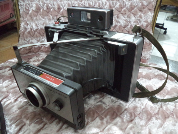 Antiga Maquina De Fotografar,polaroid Grande C/fole