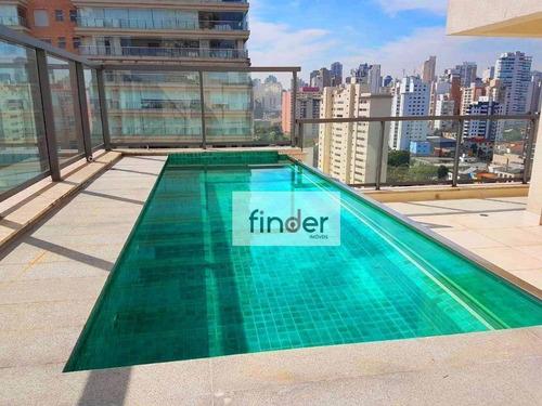 Cobertura Triplex, 325 M², Piscina, Área Gourmet, 4 Suítes, 5 Vagas E Lazer Completo. Rua Pirapora, 250 - Vista Permanente Parque Ibirapuera - Co0566
