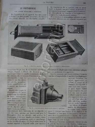 Reportaje Antiguo 1895 Camara Fotografica Le Photosphere