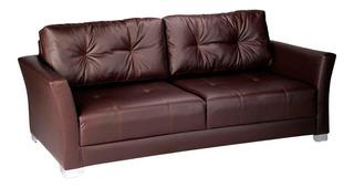 Sofa Capitan 3 Puestos Ecocuero Colores Varios