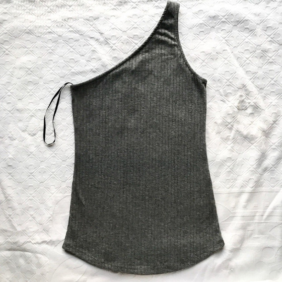 Remera Top 1 Bretel Ancho H&m Talle Xs. Morley Talle Xs Gris