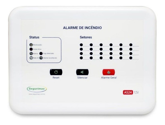Central De Alarme Incêndio 24 Setores Convencional 12v Top