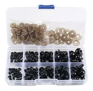 Caja 100 Unidades Ojo Plástico Seguridad Amigurumi