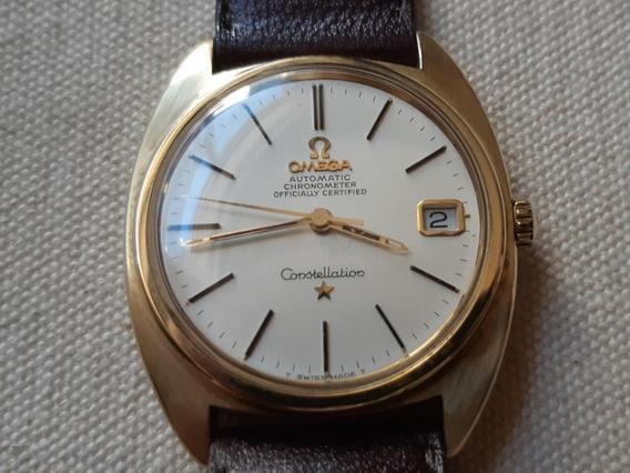 Relógio Omega Constellation Capa De Ouro Automático Antigo