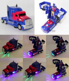 Boneco Transformers Optimus Prime Caminhão A Pilha Bateria