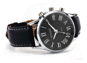 Relógio De Pulso Sanwood Couro Sintético Masculino Original