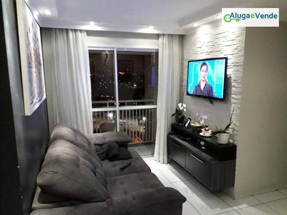 Apartamento Com 3 Dormitórios À Venda, 61 M² Por R$ 320.000 - Ponte Grande - Guarulhos/sp - Ap0026