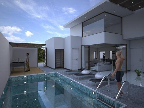 Increíble Casa De Diseño Único 1 Sola Planta P2832