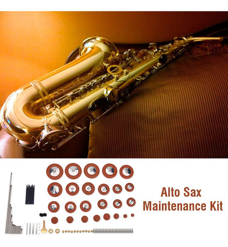 Piezas de Repuesto Good Sax para reparaci/ón de saxof/ón y Pieza de Bricolaje Bnineteenteam Juego de reparaci/ón y Mantenimiento Alto Sax