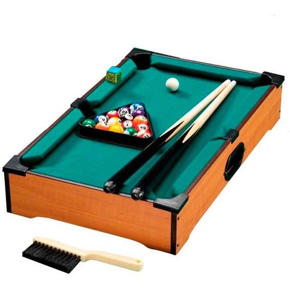 Jogo Mesa De Bilhar Madeira Snooker Sinuca Infantil