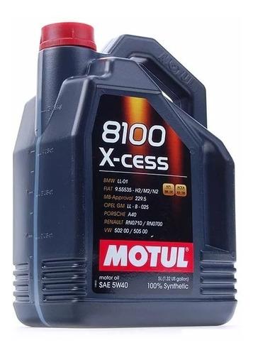 Imagen 1 de 3 de Aceite Sintetico 100% Motul 5w40 8100 5 Lts C/obsequio - Tyt