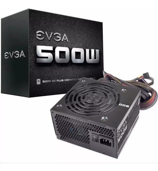 Fuente Evga 500w Reales 80 Plus 500 W Full Wired Gamer Gtia