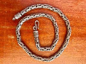 Colar De Prata De Bali 925 Ponto Peruano