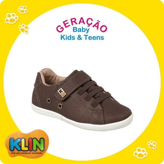 Sapato / Sapatênis Infantil Tam.20 A 27 Chocolate Klin-20757