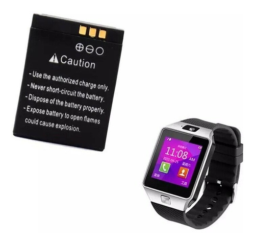Imagen 1 de 6 de Pila Lq-s1 3.7v 380mah Smart Watch Gt08 X6 V8 W8 Qw09