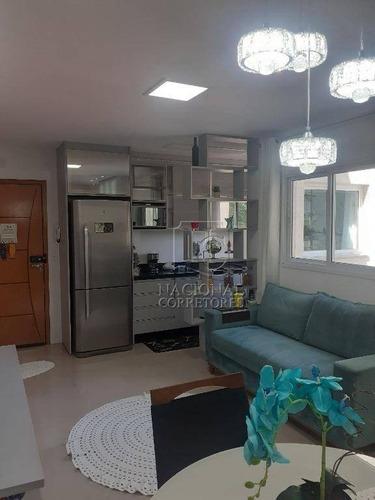 Cobertura Com 2 Dormitórios À Venda, 100 M² Por R$ 460.000,00 - Paraíso - Santo André/sp - Co5477