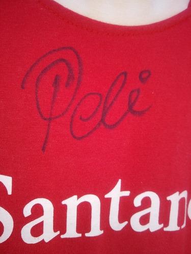Camisa Autografada Por Pelé O Rei Do Futebol.