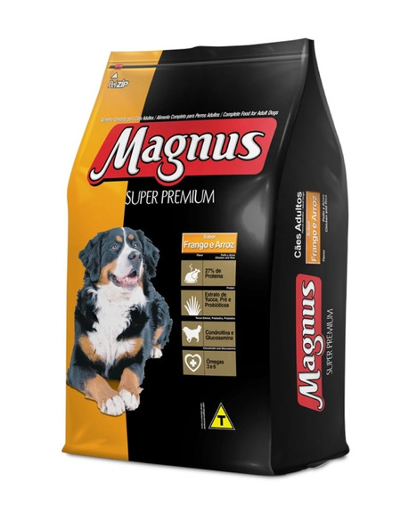 Magnus Super Premium 15kg Cães Adultos Sabor Frango E Arroz