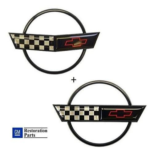 Imagen 1 de 7 de C4 Corvette Emblema De La Nariz Delantera + Emblema De La Ta