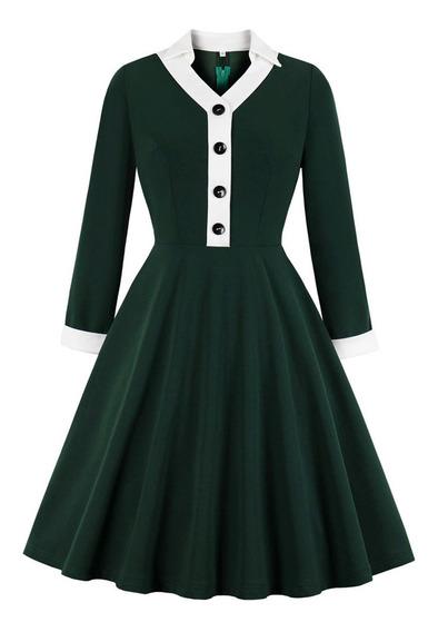 Vestido De Mujer Elegante De Una Línea De Vestido Vintage