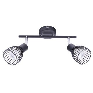 Aplique Schara Ii Negro Luces Moderna Deco Gu10 Dicroica