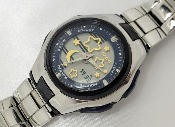 Relógio Feminino Casio 4784 Lcf 10 Ana-digi Original