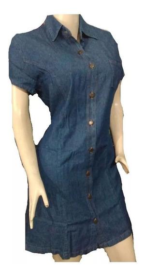 Vestido Para Dama Tipo Jean Manga Corta