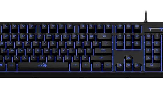 Teclado Gamer Genius Scorpion K6 Mecanico Usb Led Azul 1.8mt