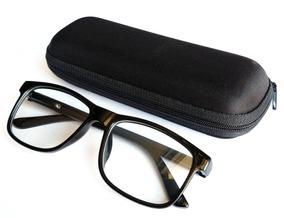 1ed830d38 Óculos Armação Masculina Feminina Para Lente De Grau + Case