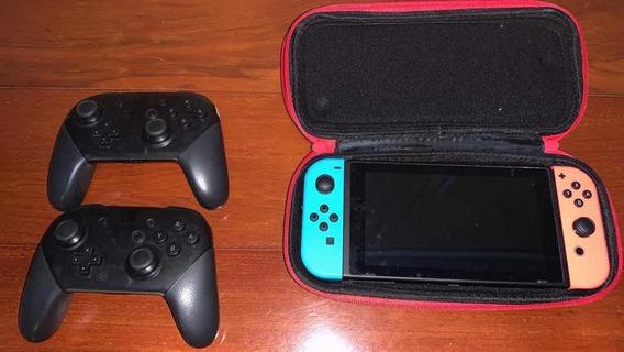 Nintendo Switch + Case + Jogos + Controller Pro Original