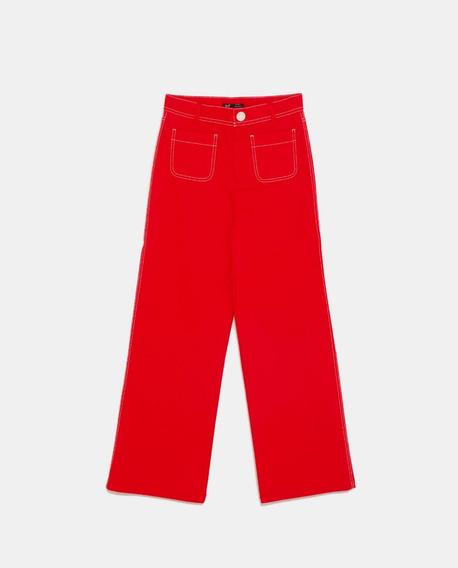 Pantalon Z.a.r.a. Colorado Pespuntes Blcos