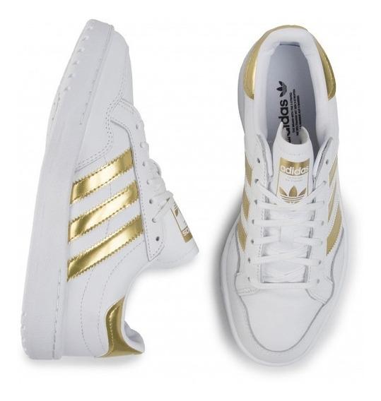 Tênis adidas Team Court Branco Dourado - Original Ef6058