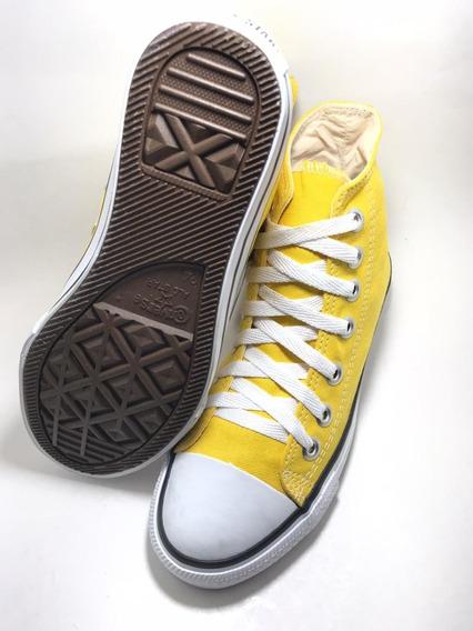 Tênis All Star Cano Alto Original Amarelo
