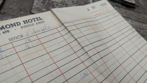 Antiguo Documento Hotel Richmod Argentina Año 50 (132)