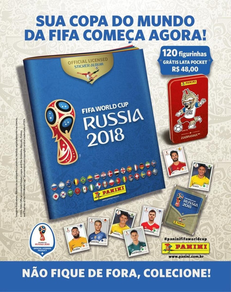 Kit Cartela + Figurinhas Copa Do Mundo Fifa 2018 - 24 Envelo