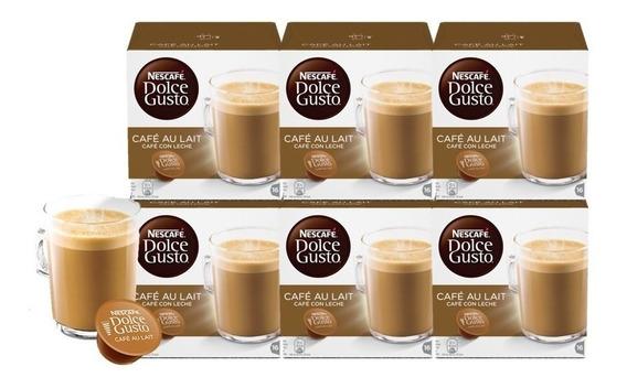 Dolce Gusto Capsulas Café Con Leche Pack X6 Cajas