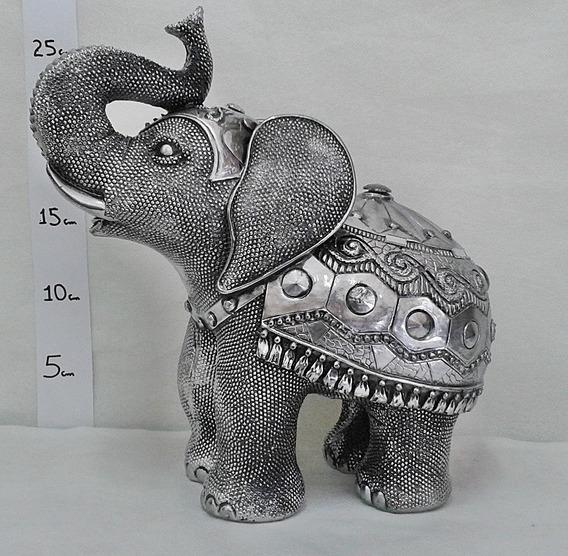 Estáuta Enfeite Luxo Animal Elefante Gordo G - Exclusivo 01