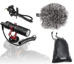 Microfone Movo Vxr10 Para Smartphone Canon Sony Nikon Rode