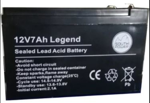 Imagen 1 de 2 de Bateria 12v 7a 7ah Alarma Legend