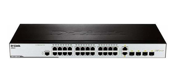 Switch D-link Xstack Managed 24-port 10 100 Stackable L2 2 ®